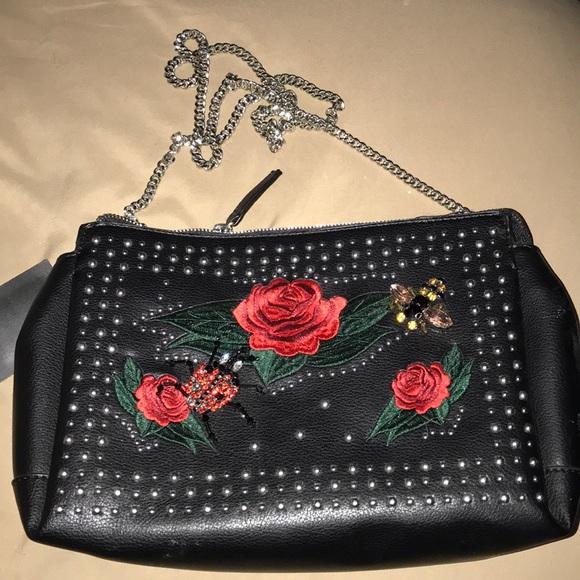 44a8e80ffcb Zara Bags   Embroidered Crossbody Leather Bag   Poshmark